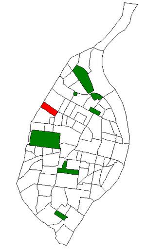 Hamilton Heights, St. Louis - Image: STL Neighborhood Map 78
