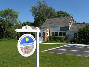 Sagaponack, New York - Sagaponack Village Hall, located at 3175 Montauk Highway in Sagaponack