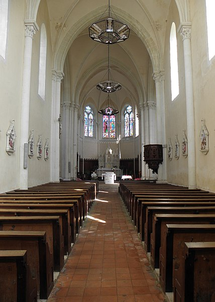 Église Saint-Germain de Saint-Germain-le-Guillaume (53). Intérieur.