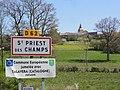 Saint-Priest-des-Champs (Puy-de-Dôme) city limit sign.JPG