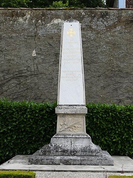 War memorial in Saint-Sylvestre-sur-Lot (Lot-et-Garonne, Aquitaine, France).