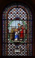 Sainte-Marie-des-Batignolles Vitrail Présentation de la Vierge 1 29102018.jpg