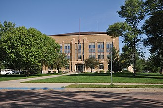 National Register of Historic Places listings in McCook County, South Dakota - Image: Salem SD Mc Cook County Courthouse