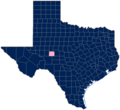 Same-sex marriage in Texas by county, August 2015.png
