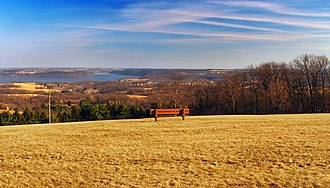 Samuel S. Lewis State Park - South-to-southeast view of the Susquehanna River Valley, Samuel S. Lewis State Park.