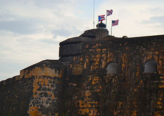 Castillo San Felipe del Morro - Modification to the Spaniard fortification by US military during WW2