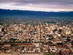 Aerial view of Tucumán