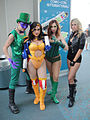 San Diego Comic-Con 2011 - Riddler, Wonder Woman, Poison Ivy, Black Canary (6004550862).jpg