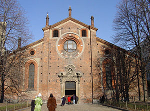 San Pietro in Gessate - Façade of the church.