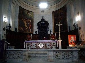 Bartholomew the Apostle - Altar of San Bartolomeo Basilica in Benevento, Italy, containing the relics of Saint Bartholomew, the Apostle