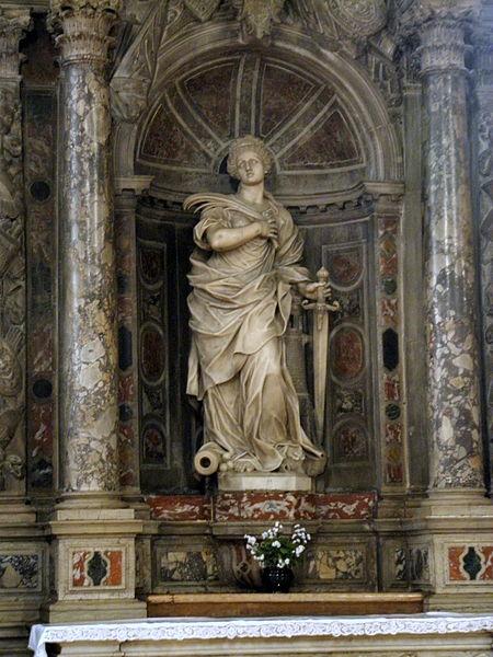 File sant 39 antonio abate interno statua di santa barbara for Arredo bimbo sant antonio abate