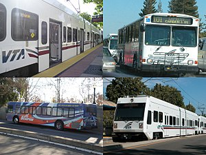 Santa Clara Valley Transportation Authority - Image: Santa Clara VTA Montage