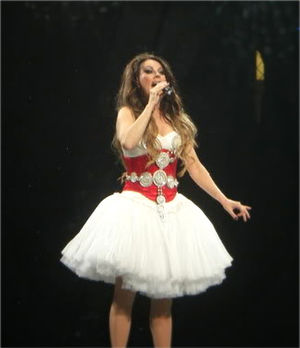 Sarah Brightman performing during her Symphony...