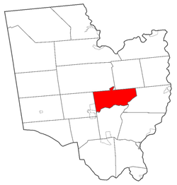 Location of Saratoga Springs within Saratoga County, New York