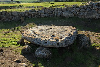 Animal sacrifice - One of the altars at the Monte d'Accoddi, where animal sacrifice may have occurred.