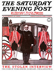 A cover of the Saturday Evening Post from 1903, illustrated by George Gibbs.