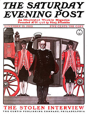 The Saturday Evening Post - 1903 cover of The Saturday Evening Post: Otto von Bismarck illustrated by George Gibbs