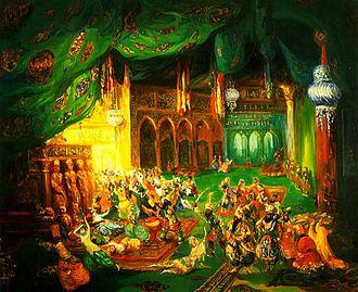 Scheherazade (Rimsky-Korsakov) - Scheherazade by Léon Bakst (before 1917)