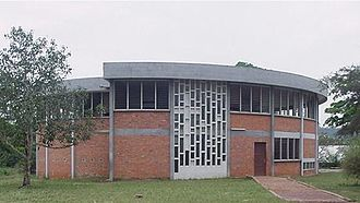 Christianity in Ghana - The Chapel of St. Peter's Boys Senior Secondary School in Nkwatia Kwahu, Eastern Region of Ghana