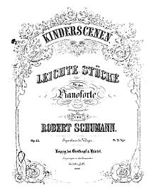 List of solo piano compositions by Robert Schumann - Wikipedia
