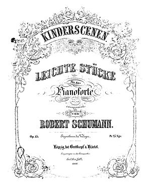 Kinderszenen - First edition title page