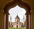 Schwetzingen - Schlossgarten - Moschee - Blick durch Kreuzgang auf Ostfassade - quer.jpg