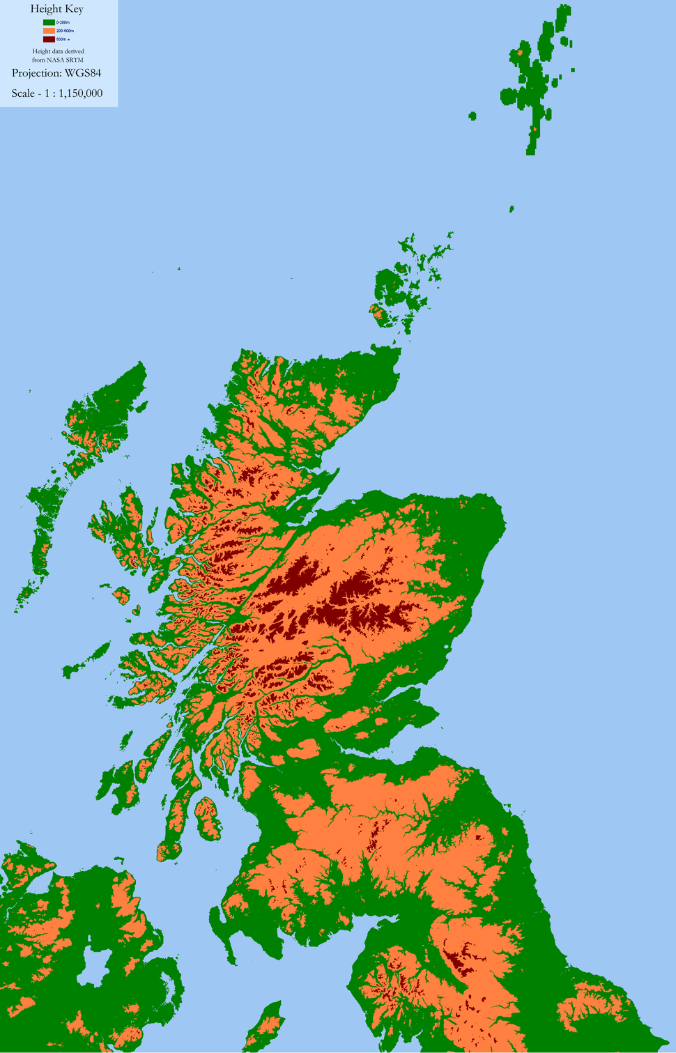 Scotland Land Use by height