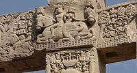 Sculpture on column, Sanchi.jpg