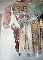 Scuola del maestro di soriguerola, affreschi di n.s. de regnos altos, 1300-50 ca., 11 incrontro dei 3 vivi e 3 morti.JPG