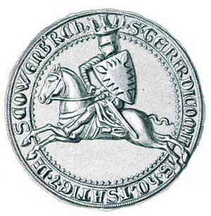 Gerhard I, Count of Holstein-Itzehoe - Seal of Gerhard I, which he used from 1254 to 1287