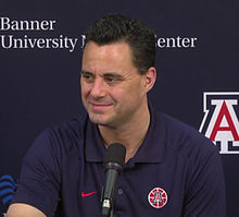 Sean Miller at University of Arizona Press Conference at McKale Center.jpg