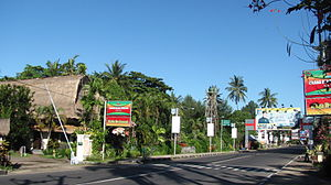 Senggigi - High Street of Senggigi, southern part