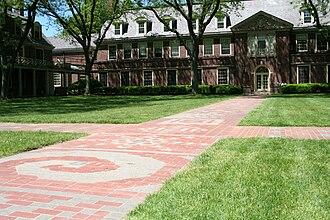Loomis Chaffee School - The Senior Path, Grubbs Quadrangle looking toward Founders Hall, The Loomis Chaffee School