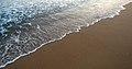 Serene tides at Rushikonda beach.JPG