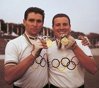 Angelo Damiano - Sergio Bianchetto and Angelo Damiano (right) at the 1964 Olympics