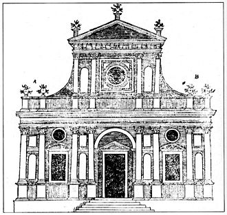 Sebastiano Serlio - Serlio's model of church façade of 1537 crystallized a format that lasted into the 18th century.
