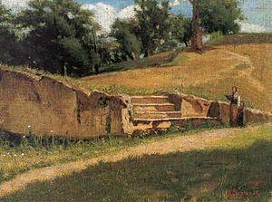 Raffaello Sernesi - Abetelle pistoiesi, c. 1860, oil on wood, 23.9 x 37.4 cm