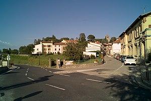 Serralongue - The junction of Paul Santena road and Abdon Poggi road, in Serralongue