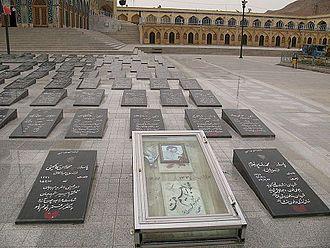 Mohammad Ebrahim Hemmat - Hemmat's grave at Shahreza