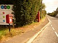 Sherborne Causeway, postbox No. SP7 12 and phone - geograph.org.uk - 1508647.jpg