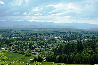 Sheridan, Oregon - View of the city from the northeast