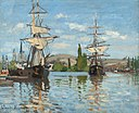 Ships Riding on the Seine at Rouen by Claude Monet, 1872.jpg