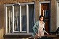 Shooting of Das Tagebuch der Anne Frank (2016) - Martina Gedeck as Edith Frank in Amsterdam.jpg