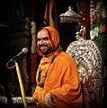 Shri Raghveshwara Bharathi Swamiji in August 2013 on the ocassion of Ramakatha.jpg