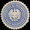 Siegelmarke Amtsbezirk XI. Hohenwestedt Kreis Rendsburg W0360869.jpg