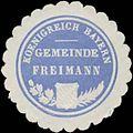Siegelmarke Gemeinde Freimann K. Bayern W0352396.jpg
