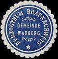 Siegelmarke Gemeinde Warberg H. Braunschweig W0352120.jpg