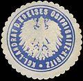 Siegelmarke K. Landrat d. Kreises Ostprignitz Kyritz W0387694.jpg