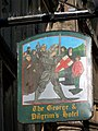 Sign for the George and Pilgrims - geograph.org.uk - 1563155.jpg
