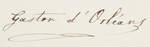 Signature of Prince Gaston, Count of Eu, husband of Isabel, Princess Imperial of Brazil.png